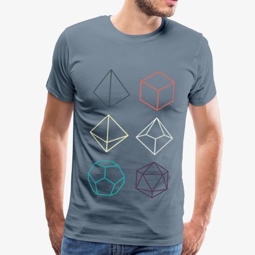 Blauw minimal DnD dice premium shirt - Mannen Premium T-shirt