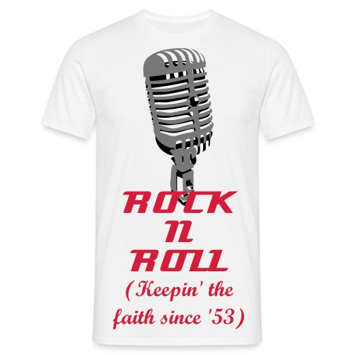 Rock N Roll Keepin' The Faith - White - Men's T-Shirt