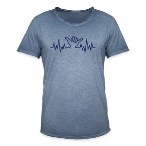 Wave  Hand Sign - Männer Vintage T-Shirt