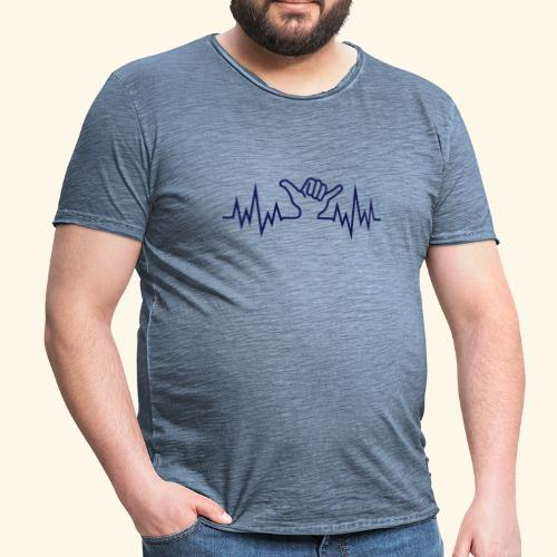 Wave  Hand Sign - Männer Vintage T-Shirt