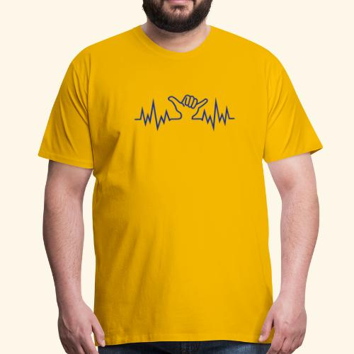 Wave  Hand Sign - Männer Premium T-Shirt