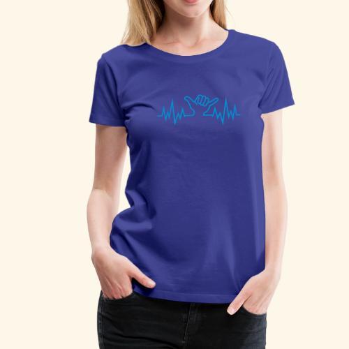 Wave  Hand Sign - Frauen Premium T-Shirt
