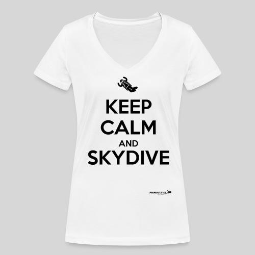 Keep Calm - Femme col V - T-shirt bio col V Stanley & Stella Femme