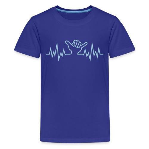 Wave  Hand Sign  - Teenager Premium T-Shirt