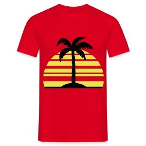 Amanecer en la playa - Camiseta hombre