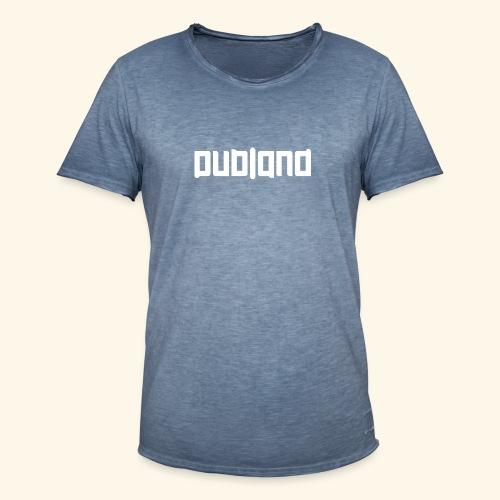 Dubland Vintage, White Logo (Big in size) - Vintage-T-shirt herr