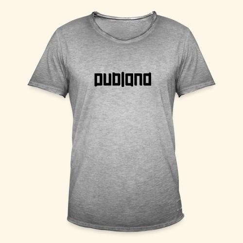 Dubland Vintage, Black Logo (Big in size) - Vintage-T-shirt herr