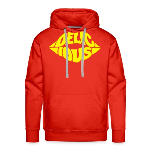 HOODIE DELICIOUS KISS - Premium hettegenser for menn