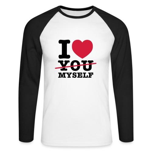 I LOVE MYSELF - Männer Baseballshirt langarm