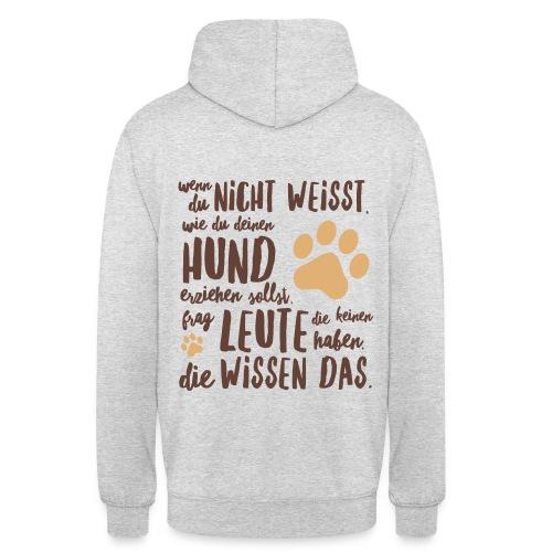Unisex Hoodie - Hunde erziehen  - Unisex Hoodie