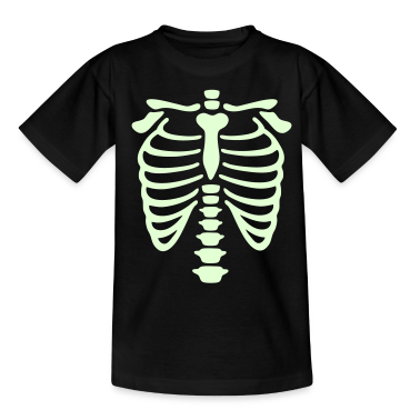 Black X-Ray rib-case Kids' Shirts