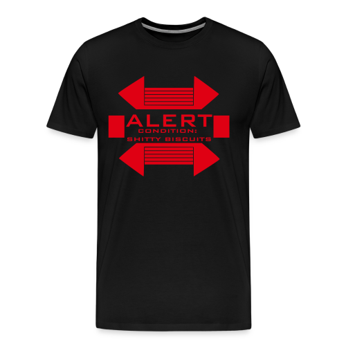 Alert Condition Shitty Biscuits T-Shirt - Men's Premium T-Shirt