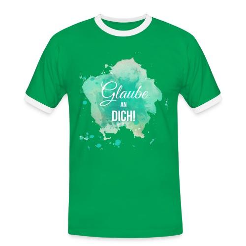Glaube an Dich! (by hatgirl) T-Shirts - Männer Kontrast-T-Shirt