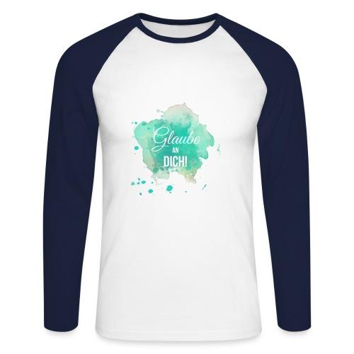 Glaube an Dich! (by hatgirl) Langarmshirts - Männer Baseballshirt langarm