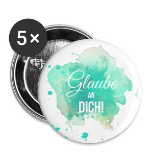 Glaube an Dich! (by hatgirl) Buttons & Anstecker - Buttons klein 25 mm