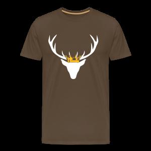 Hirschgeweih mit Krone Shirt - Männer Premium T-Shirt