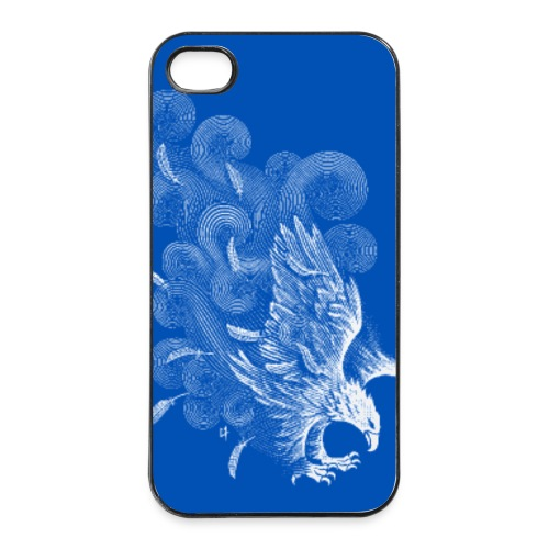 Windy Wings Blue - iPhone 4/4s Hard Case