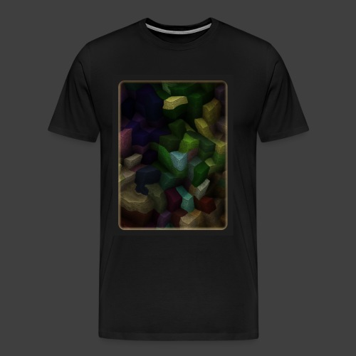 Colored Stone Stairs - Men's Premium T-Shirt
