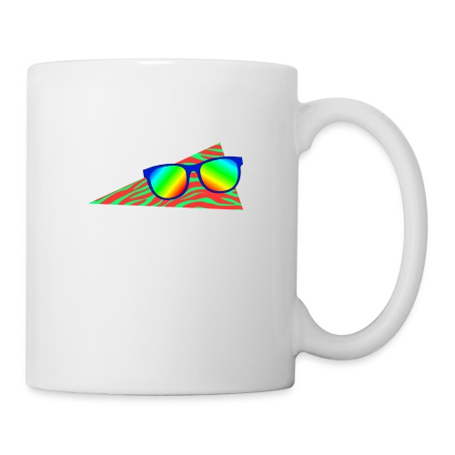 Kopp - regnbue,Solbriller,80s,80-tallet,80's