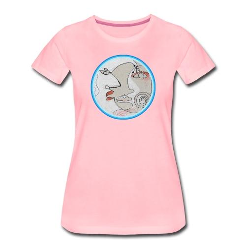 Mond - Gesichter - Frauen Premium T-Shirt