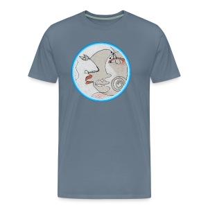 Mond - Gesichter - Männer Premium T-Shirt