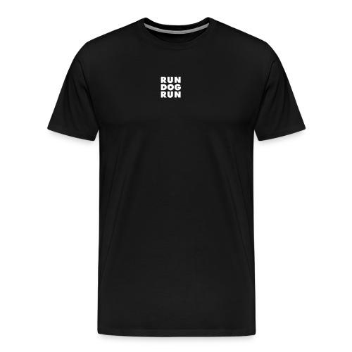 Premium T-skjorte for menn – logo front, speilvendt logo rygg - Premium T-skjorte for menn