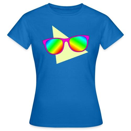 T-skjorte for kvinner - neon,Solbriller,80s,80-tallet,80's