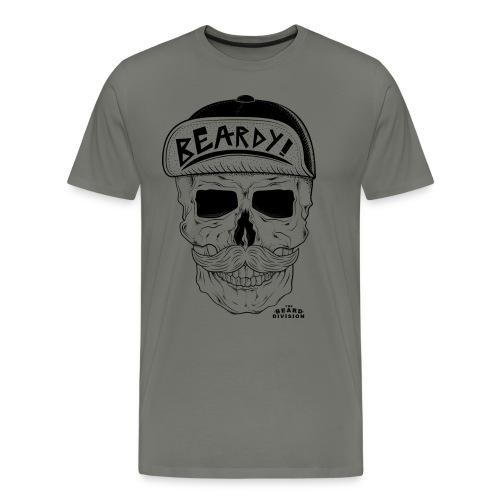 Mustache Cap Dude - Männer Premium T-Shirt