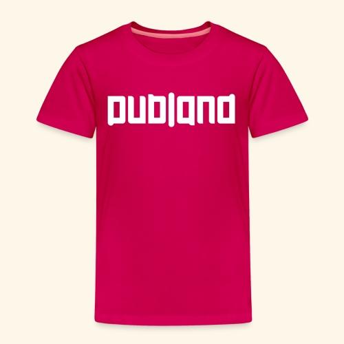 Dubland Kids, White Logo - Premium-T-shirt barn