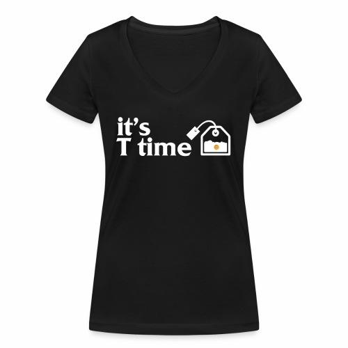 Tee-shirt col V it's T time - T-shirt bio col V Stanley & Stella Femme