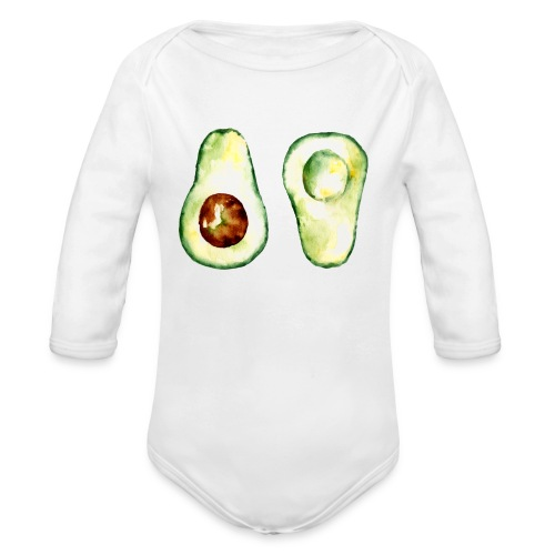 Avocado | Baby Langarm-Body  - Organic Longsleeve Baby Bodysuit
