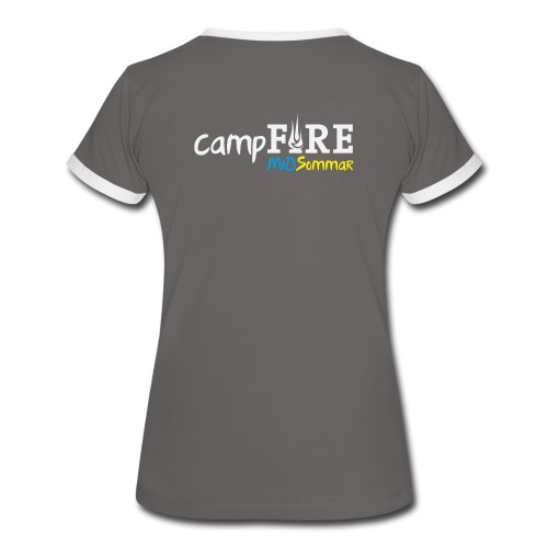 TWO COLOURS Campfire - Frauen Kontrast-T-Shirt