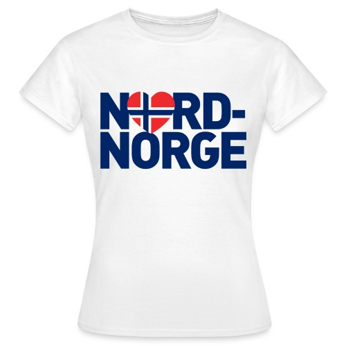 Elsker Nord-Norge - T-skjorte for kvinner