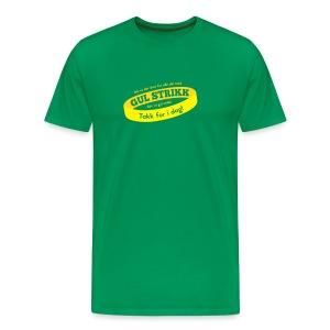 Då va d slutt for alle dei med gul strikk... - Premium T-skjorte for menn