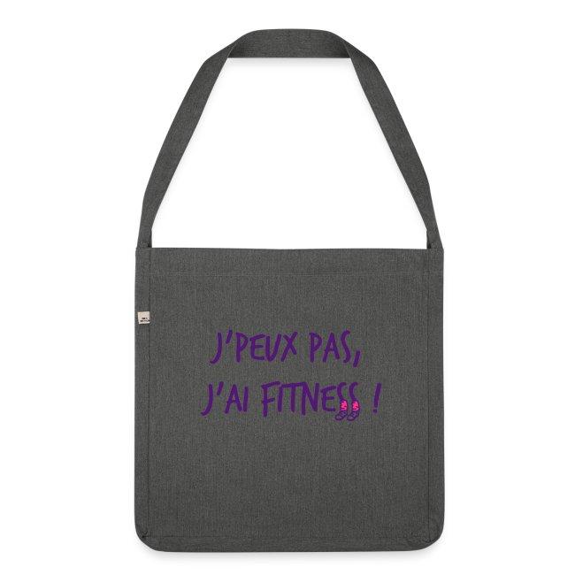 sac en toile - j'peux pas j'ai Fitness - idée cadeau Fête des mères