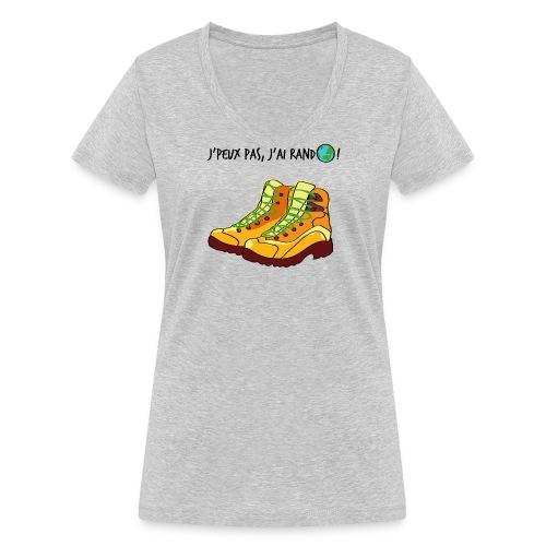 T-Shirt BIO J'peux pas j'ai rando - idée cadeau Fête des mères - T-shirt bio col V Stanley & Stella Femme