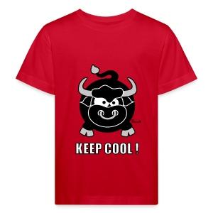 T-shirt BIO Enfant/Ado Taureau, Bull, Keep Cool - T-shirt bio Enfant