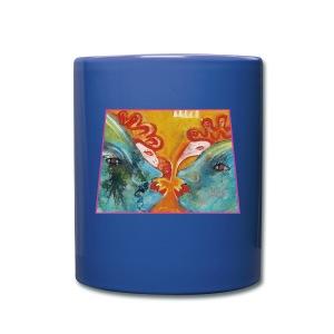 Streit - Hähne - Tasse einfarbig