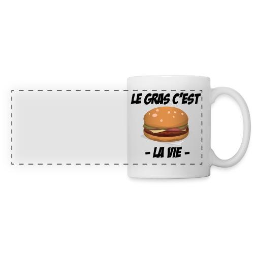 Le gras c'est la vie - Tasse - Mug panoramique contrasté et blanc