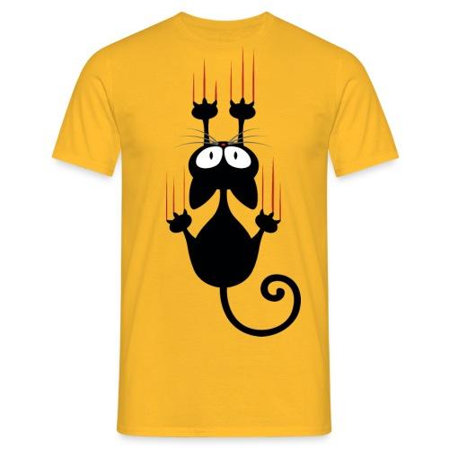 Wenn Katzen krallen - Männer T-Shirt