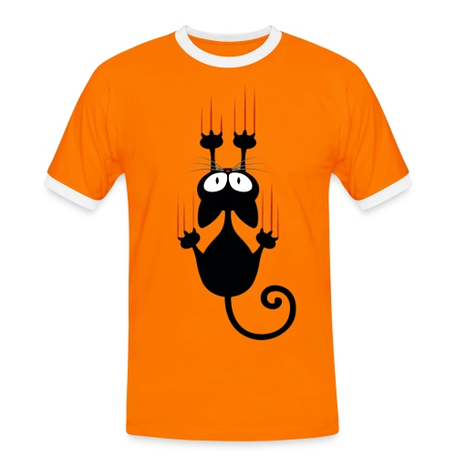 Katze 01 - Männer Kontrast-T-Shirt