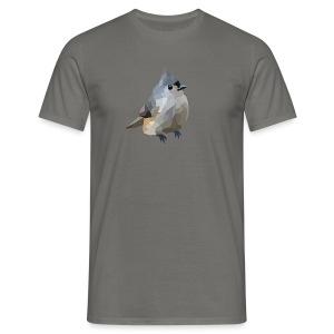 Polygon Art: Tufted Titmouse T-Shirts - Männer T-Shirt