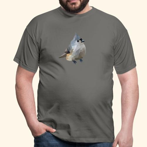 Polygon Art: Tufted Titmouse T-Shirts - Männer T-Shirt