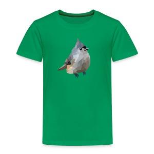 Polygon Art: Tufted Titmouse T-Shirts - Kinder Premium T-Shirt