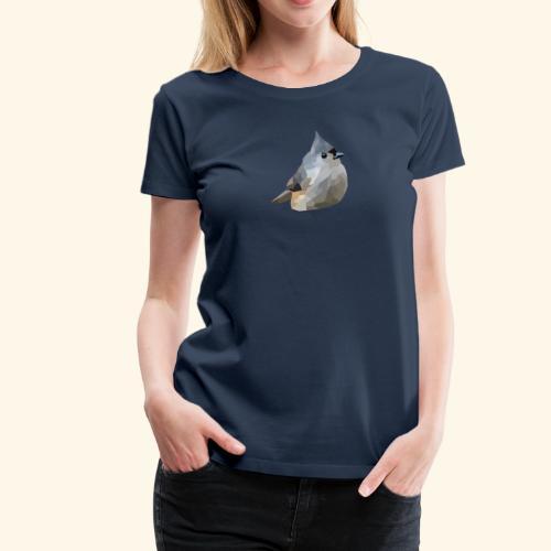 Polygon Art: Tufted Titmouse T-Shirts - Frauen Premium T-Shirt