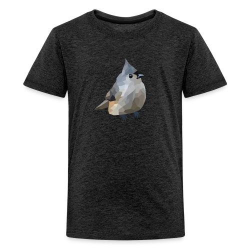 Polygon Art: Tufted Titmouse T-Shirts - Teenager Premium T-Shirt