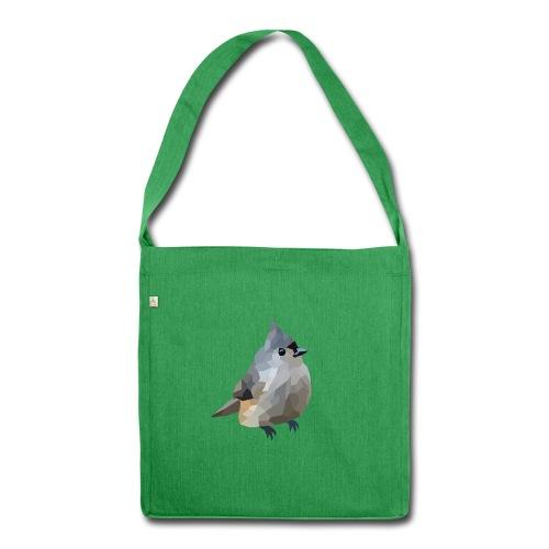 Polygon Art: Tufted Titmouse Taschen & Rucksäcke - Schultertasche aus Recycling-Material