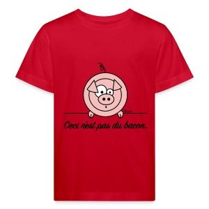 T-shirt Bio Enfant/Ado Cochon Ceci n'est pas du Bacon Végan - T-shirt bio Enfant