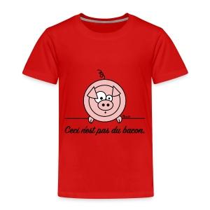 T-shirt P Enfant Cochon Ceci n'est pas du Bacon Végan - T-shirt Premium Enfant