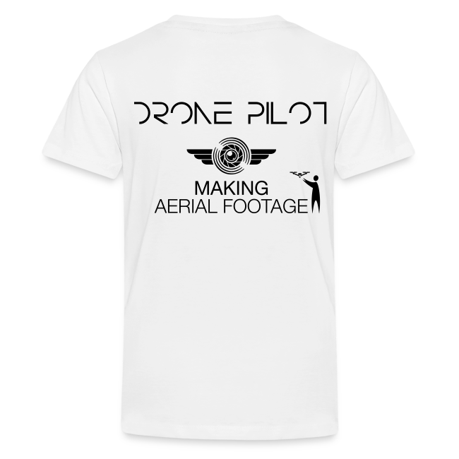 T-shirt: Making Aerial Footage (teen) | White